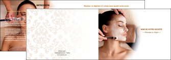 modele en ligne depliant 2 volets  4 pages  centre esthetique  masque masque du visage soin du visage MLGI26855