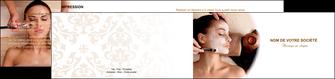 creer modele en ligne depliant 2 volets  4 pages  centre esthetique  masque masque du visage soin du visage MLGI26857
