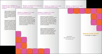 realiser depliant 4 volets  8 pages  texture contexture structure MLGI26895