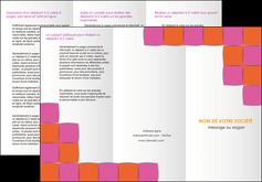 cree depliant 3 volets  6 pages  texture contexture structure MLGI26911