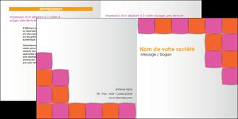 impression depliant 2 volets  4 pages  texture contexture structure MLGI26917