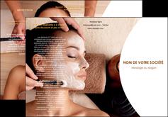 exemple depliant 3 volets  6 pages  centre esthetique  masque masque du visage soin du visage MLGI27015