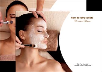 creation graphique en ligne flyers centre esthetique  masque masque du visage soin du visage MLGI27019