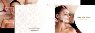 faire modele a imprimer depliant 2 volets  4 pages  centre esthetique  masque masque du visage soin du visage MLGI27027