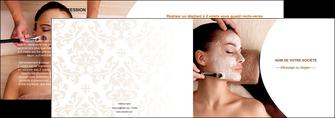 realiser depliant 2 volets  4 pages  centre esthetique  masque masque du visage soin du visage MLGI27029