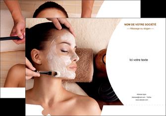personnaliser maquette pochette a rabat centre esthetique  masque masque du visage soin du visage MLGI27031