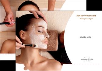 personnaliser maquette pochette a rabat centre esthetique  masque masque du visage soin du visage MLGI27033