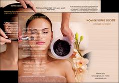 faire modele a imprimer depliant 3 volets  6 pages  centre esthetique  masque masque du visage soin du visage MLGI27051