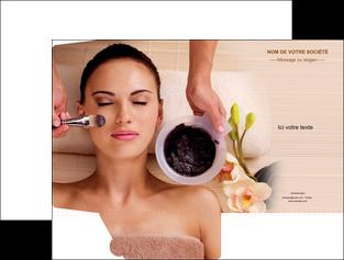 maquette en ligne a personnaliser pochette a rabat centre esthetique  masque masque du visage soin du visage MLGI27069