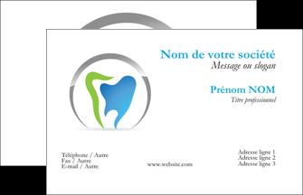 creer modele en ligne carte de visite dentiste dents soins dentaires caries MIS27135