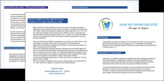modele en ligne depliant 2 volets  4 pages  dentiste dents soins dentaires caries MIS27137