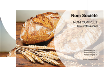creer modele en ligne carte de visite sandwicherie et fast food boulangerie boulanger boulange MIF27203