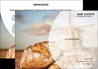 faire flyers sandwicherie et fast food boulangerie boulanger boulange MIF27207