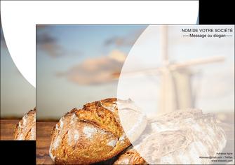 personnaliser modele de affiche sandwicherie et fast food boulangerie boulanger boulange MLGI27209