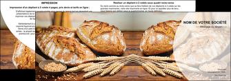 modele depliant 2 volets  4 pages  sandwicherie et fast food boulangerie boulanger boulange MIF27217
