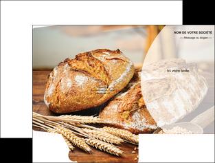 faire modele a imprimer pochette a rabat sandwicherie et fast food boulangerie boulanger boulange MIF27221
