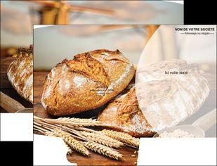 imprimer pochette a rabat sandwicherie et fast food boulangerie boulanger boulange MIF27223