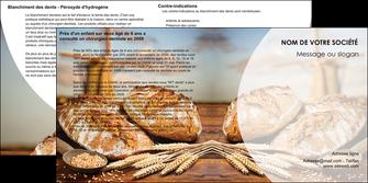 imprimerie depliant 2 volets  4 pages  sandwicherie et fast food boulangerie boulanger boulange MIF27225