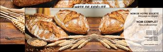impression carte de visite sandwicherie et fast food boulangerie boulanger boulange MIF27229