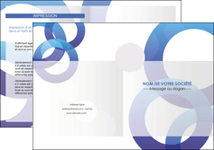 modele depliant 2 volets  4 pages  texture contexture structure MLIG27241