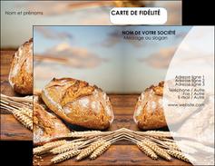 creer modele en ligne carte de visite sandwicherie et fast food boulangerie boulanger boulange MIF27271
