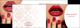 faire modele a imprimer depliant 2 volets  4 pages  centre esthetique  ongles vernis vernis a ongles MLGI27367
