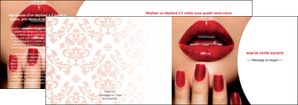 creation graphique en ligne depliant 2 volets  4 pages  centre esthetique  ongles vernis vernis a ongles MLIP27369
