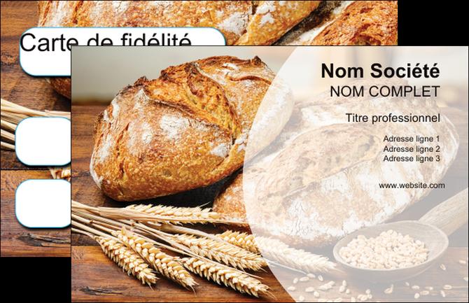 imprimer carte de visite sandwicherie et fast food boulangerie boulanger boulange MIF27441