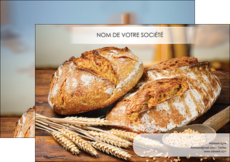 maquette en ligne a personnaliser affiche sandwicherie et fast food boulangerie boulanger boulange MIF27449