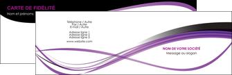 Impression vernis selectif carte de visite  Carte commerciale de fidélité papier à prix discount et format Carte de visite Double - Paysage