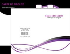 Commander Carte de visite  Carte commerciale de fidélité cartedevisite Carte de visite Double - Portrait