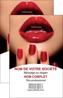 maquette en ligne a personnaliser carte de visite centre esthetique  ongles vernis vernis a ongles MLGI27539