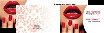 modele carte de visite centre esthetique  ongles vernis vernis a ongles MLGI27541