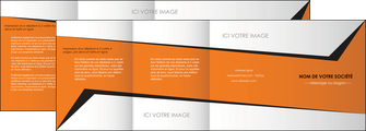 realiser depliant 4 volets  8 pages  textures contextures structure MLIG27553