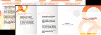 exemple depliant 4 volets  8 pages  texture contexture structure MIF27643