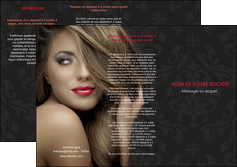 cree depliant 3 volets  6 pages  centre esthetique  coiffure salon de coiffure salon de beaute MLGI27715