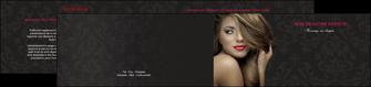 faire depliant 2 volets  4 pages  centre esthetique  coiffure salon de coiffure salon de beaute MLGI27731