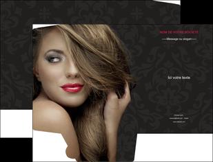 exemple pochette a rabat centre esthetique  coiffure salon de coiffure salon de beaute MLGI27735