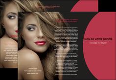 creer modele en ligne depliant 3 volets  6 pages  centre esthetique  cheveux coiffure salon de coiffure MLGI27933