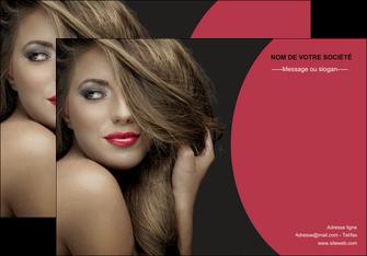 personnaliser modele de affiche centre esthetique  cheveux coiffure salon de coiffure MLGI27939