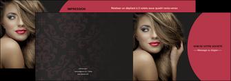 creer modele en ligne depliant 2 volets  4 pages  centre esthetique  cheveux coiffure salon de coiffure MLGI27947