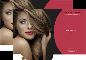 impression pochette a rabat centre esthetique  cheveux coiffure salon de coiffure MLGI27949