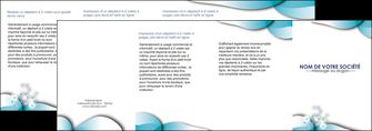 modele depliant 4 volets  8 pages  medecin texture contexture structure MLIG27967