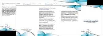 modele depliant 4 volets  8 pages  medecin texture contexture structure MLGI27969