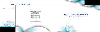 Impression vernis selectif carte de visite Médecin Carte commerciale de fidélité devis d'imprimeur publicitaire professionnel Carte de visite Double - Paysage