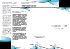 imprimerie depliant 3 volets  6 pages  medecin texture contexture structure MLGI27979