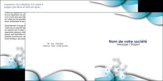 exemple depliant 2 volets  4 pages  medecin texture contexture structure MLGI27985
