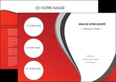 realiser depliant 2 volets  4 pages  texture contexture structure MLIG28013