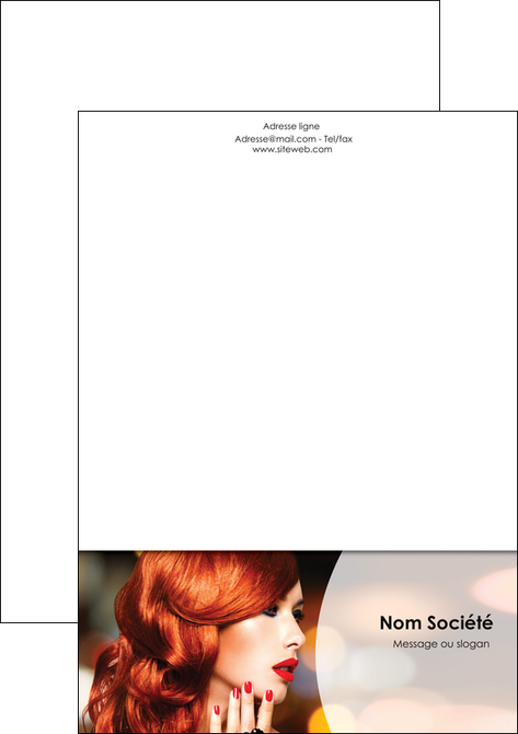 creation graphique en ligne tete de lettre centre esthetique  coiffure coiffeur coiffeuse MLGI28041