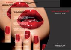 creer modele en ligne depliant 3 volets  6 pages  centre esthetique  beaute institut de beaute institut de beaute professionnel MIF28075